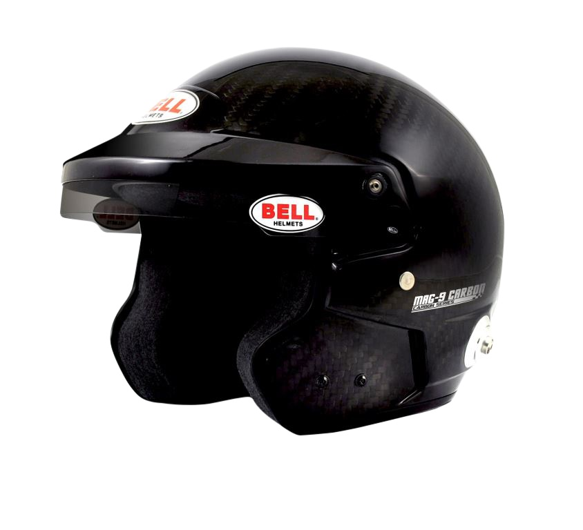 Helm Bell, Modell MAG9, Carbon, mit Hans-Clip