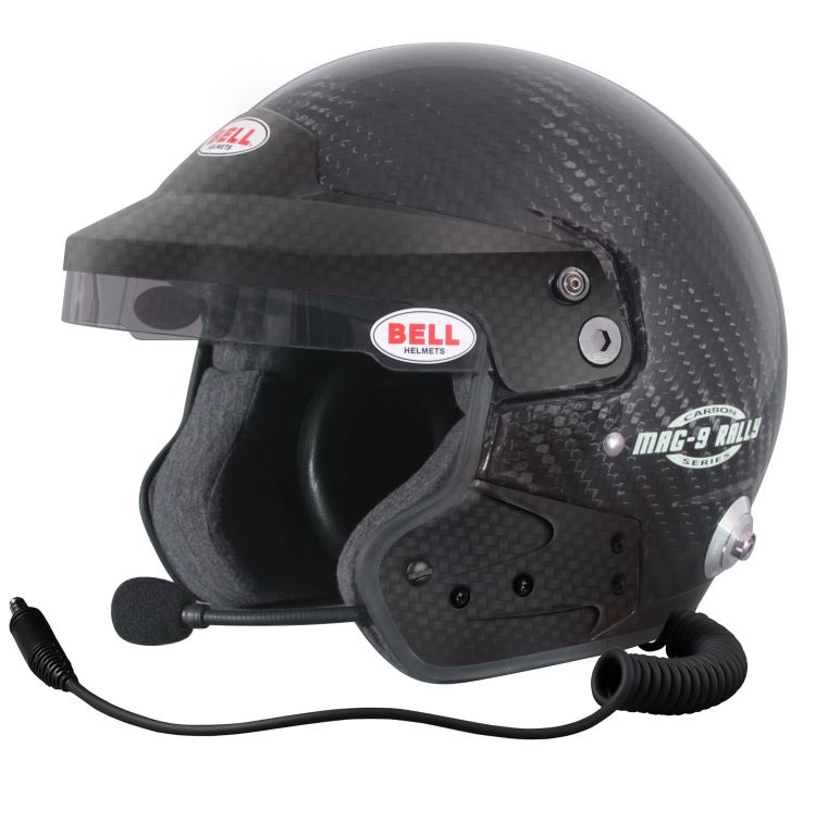 Helm Bell, Modell MAG9 Rally, Carbon, mit Hans-Clip