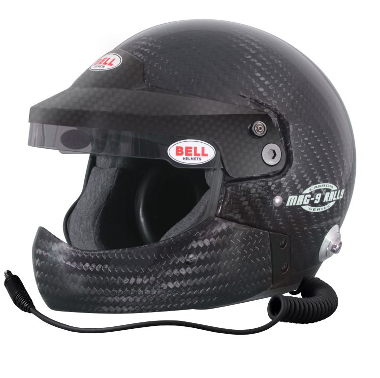 Helm Bell, Modell MAG9 Rally HCB, Carbon, mit Hans-Clip