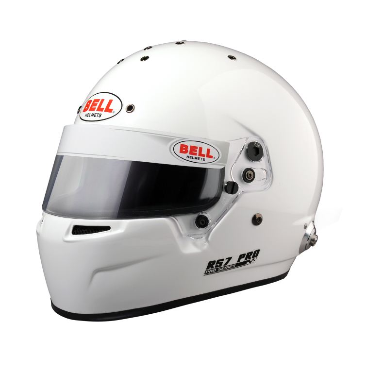 Helm Bell, Modell RS7 PRO, weiss, mit Hans-Clip