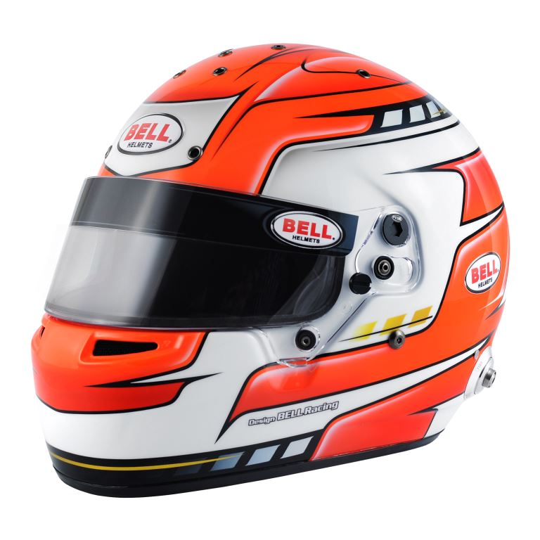 Helm Bell, Modell RS7 Falcon, rot, mit Hans-Clip